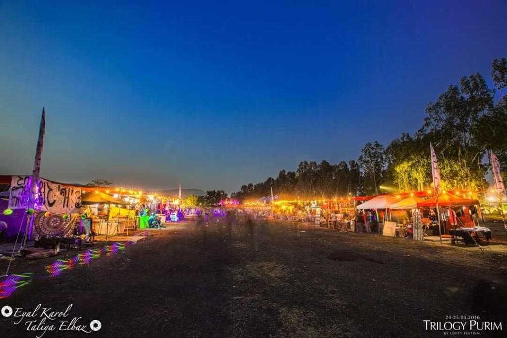 מתחם דוכנים פסטיבל יוניטי מסיבת טבע