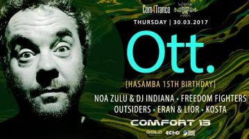 חגיגות 15 שנים לחסמבה עם Ott בקומפורט - 30.03.17
