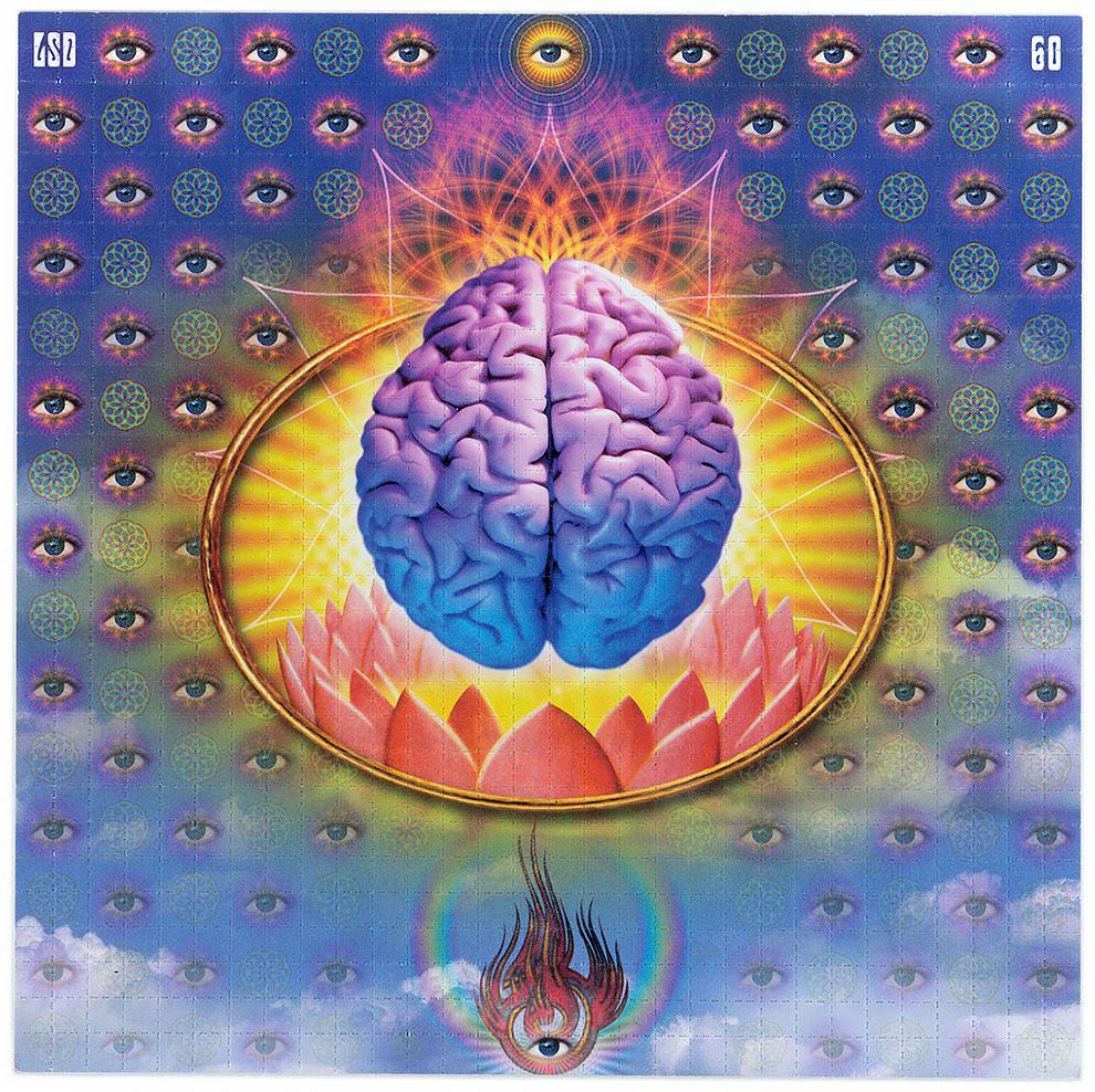 גלויות אסיד LSD מוח