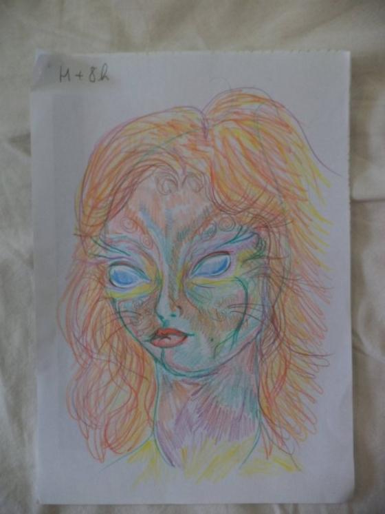ציורים בהשפעת סמים אסיד LSD