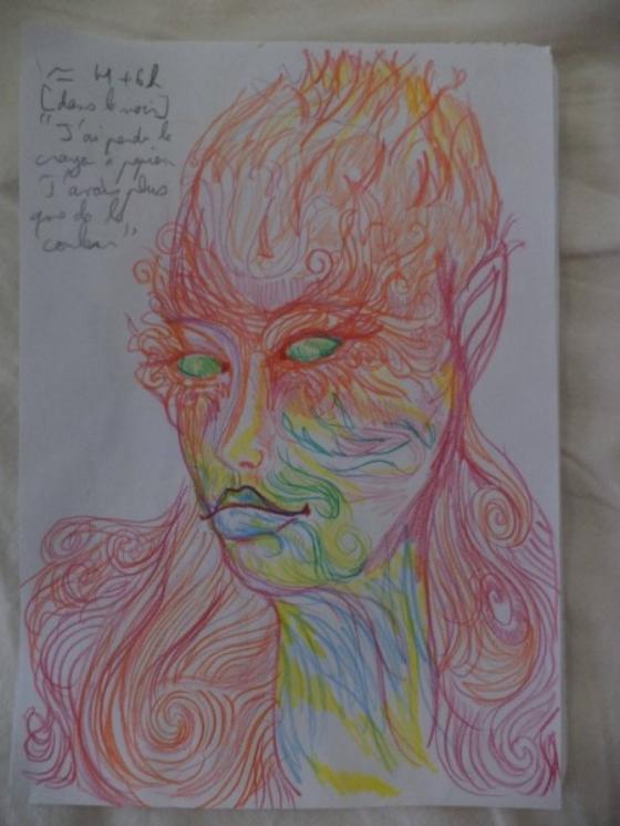 ציורים של אנשים בהשפעת אסיד LSD