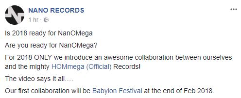 שילוב כוחות שילוב כוחות של NANO Records עם HOMmega למותג חדשNanOMega