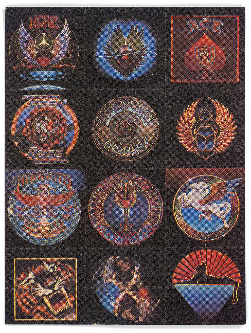 גלויות אסיד LSD אלבומי גרייטפול דד